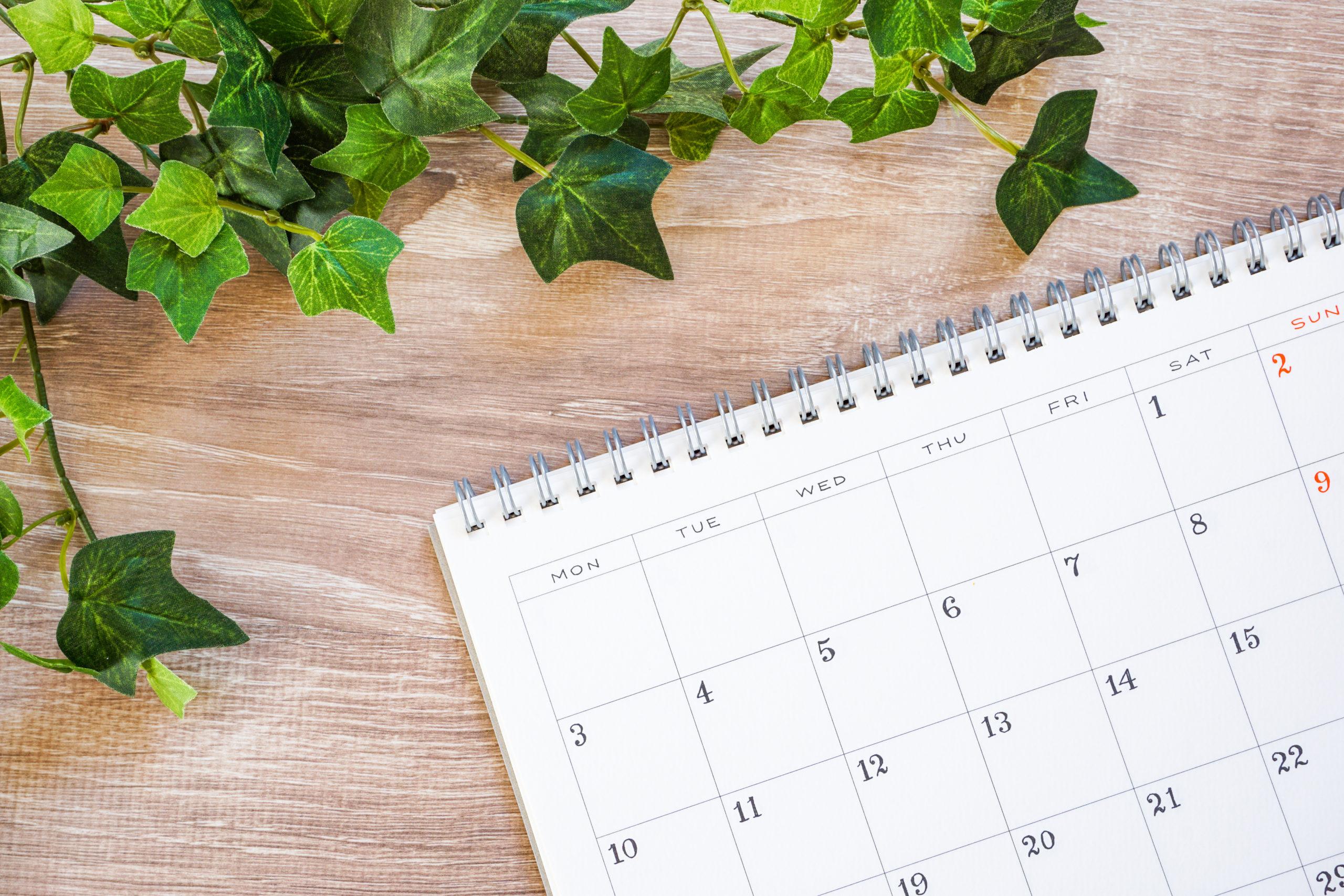 今月の診療カレンダー